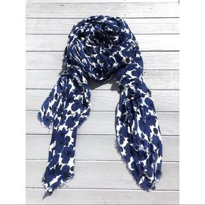 Banana Republic floral blue poppy oversized scarf